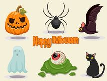 Illustration heureuse de vecteur de conception d'icône de Halloween Images libres de droits