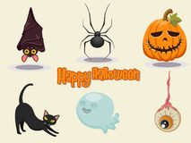 Illustration heureuse de vecteur de conception d'icône de Halloween Image stock