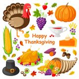 Illustration heureuse de vecteur d'affiche de jour de thanksgiving illustration libre de droits