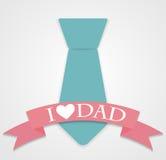 Illustration heureuse de vecteur de Day Poster Card de père Image stock
