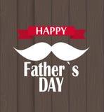Illustration heureuse de vecteur de Day Poster Card de père Photos stock