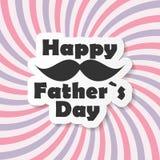 Illustration heureuse de vecteur de Day Poster Card de père illustration de vecteur
