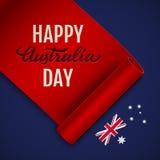 Illustration heureuse de vecteur de jour d'Australie illustration stock