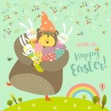 Illustration heureuse de vecteur de salutation de Pâques illustration de vecteur