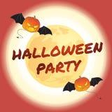 Illustration heureuse de vecteur de thème de Halloween Photos stock