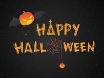 Illustration heureuse de vecteur de thème de Halloween Photos libres de droits