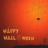 Illustration heureuse de vecteur de thème de Halloween Photographie stock