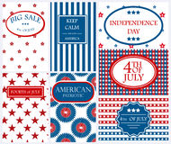 Illustration heureuse de vecteur de vacances de l'Amérique de fond de carte de Jour de la Déclaration d'Indépendance Photographie stock libre de droits