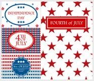 Illustration heureuse de vecteur de vacances de l'Amérique de fond de carte de Jour de la Déclaration d'Indépendance Photographie stock