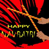 Illustration heureuse de vecteur de Navratri Photo libre de droits