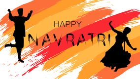 Illustration heureuse de vecteur de Navratri Photos stock