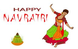 Illustration heureuse de vecteur de Navratri Images stock