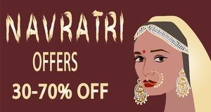 Illustration heureuse de vecteur de Navratri illustration stock