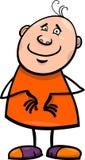 Illustration heureuse drôle de bande dessinée d'homme Photo libre de droits