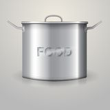 Illustration of high aluminum saucepan Stock Image