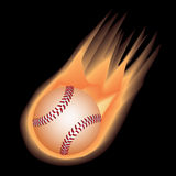 Baseball fire Stock Photography