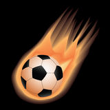 Soccer-fire Stock Photo
