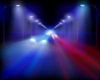 Illustration of highway. Vector illustration. Stock Images