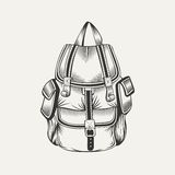 Illustration of hiking backpack Stock Images