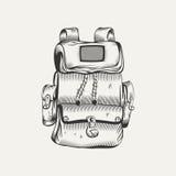 Illustration of hiking backpack Stock Image