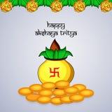 Illustration of Hindu festival Akshaya Tritiya background. Illustration of elements of Hindu festival Akshaya Tritiya background Royalty Free Stock Photos