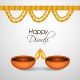 Illustration of hindu festival Diwali background. Illustration of elements of hindu festival Diwali background Stock Photo