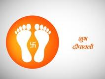 Illustration of hindu festival Diwali background Stock Photography