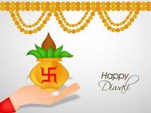 Illustration of hindu festival Diwali background. Illustration of elements of hindu festival Diwali background Royalty Free Stock Photography