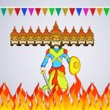 Illustration of hindu festival Dussehra background. Illustration of elements of hindu festival Dussehra background Royalty Free Stock Images