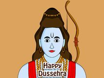 Illustration of hindu festival Dussehra background Royalty Free Stock Photo