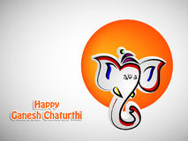 Illustration of Hindu festival Ganesh Chaturthi Background Royalty Free Stock Photos