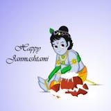 Illustration of Hindu Festival Janmashtami background. Illustration of elements of Hindu Festival Janmashtami background. Janmashtami is a festival celebrated on Stock Photo