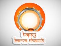 Illustration of Hindu Festival Karva Chauth background. Illustration of elements of Hindu Festival Karva Chauth background Stock Image