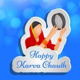 Illustration of Hindu Festival Karva Chauth background. Illustration of elements of Hindu Festival Karva Chauth background Royalty Free Stock Photos