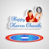 Illustration of Hindu Festival Karva Chauth background. Illustration of elements of Hindu Festival Karva Chauth background Stock Photos