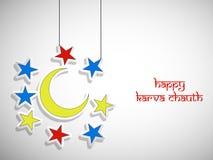 Illustration of Hindu Festival Karwa Chauth background Royalty Free Stock Photos