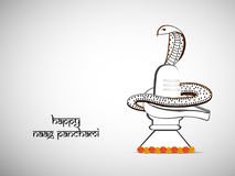 Illustration of hindu festival Naag Panchami background royalty free illustration