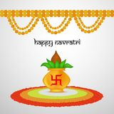 Illustration of hindu festival Navratri Background. Illustration of elements of hindu festival Navratri Background Royalty Free Stock Photos