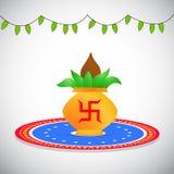 Illustration of hindu festival Navratri Background. Illustration of elements of hindu festival Navratri Background Royalty Free Stock Photo