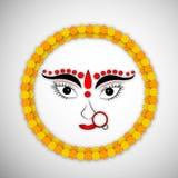 Illustration of hindu festival Navratri Background. Illustration of elements of hindu festival Navratri Background Stock Image
