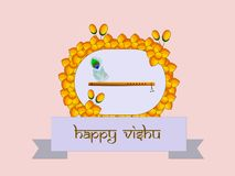 Illustration of Hindu festival Vishu Background. Celebrated in the Indian state of Kerala Royalty Free Stock Photo