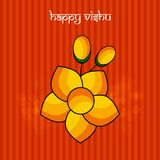 Illustration of Hindu festival Vishu Background. Celebrated in the Indian state of Kerala Royalty Free Stock Photography
