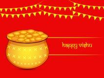 Illustration of Hindu festival Vishu Background. Illustration of elements of Hindu festival Vishu Background. Celebrated in the Indian state of Kerala Royalty Free Stock Photos