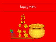 Illustration of Hindu festival Vishu Background. Celebrated in the Indian state of Kerala Royalty Free Stock Images