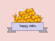 Illustration of Hindu festival Vishu Background. Celebrated in the Indian state of Kerala Stock Images