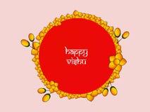 Illustration of Hindu festival Vishu Background. Celebrated in the Indian state of Kerala Royalty Free Stock Photos