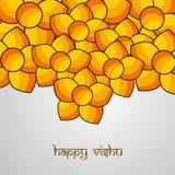 Illustration of Hindu festival Vishu Background. Celebrated in the Indian state of Kerala Stock Photography