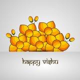 Illustration of Hindu festival Vishu Background. Celebrated in the Indian state of Kerala Stock Photo