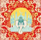 Illustration of Hindu Lord Ganesha Royalty Free Stock Images
