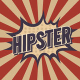 Illustration of a hipster, design in pop-art style Royalty Free Stock Photos